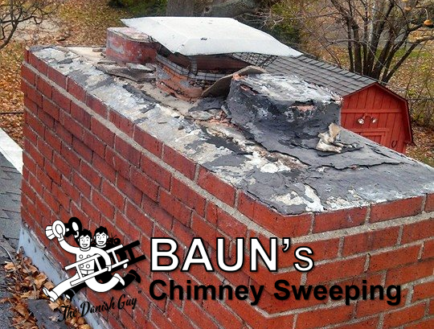 chimney cap repair and flue installation