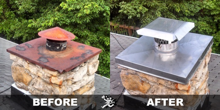 indianapolis chimney chase cover replacement baun s chimney rh baunschimneysweeping com chimney chase covers lowes chimney chase covers and caps