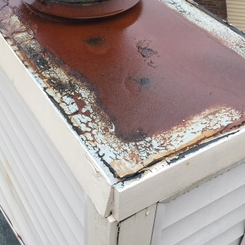 improperly installed chimney chase cover