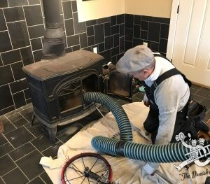 cleaning wood burning stove